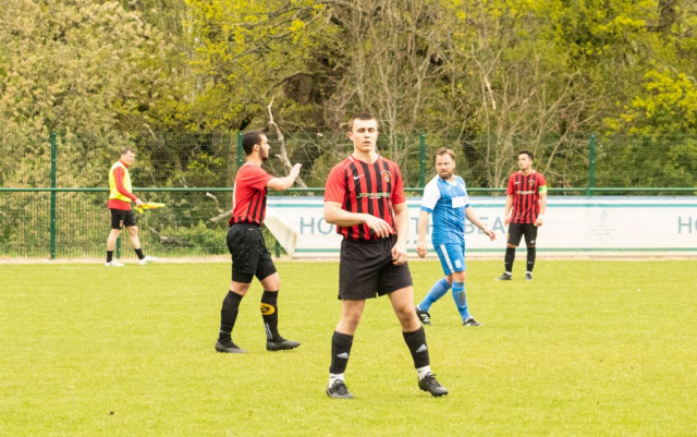 Centre-back Ben Haselden on a successful debut for the Reserves