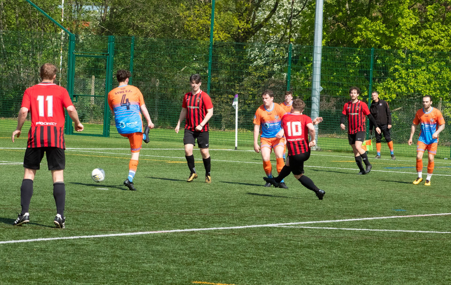 Late shot from Danny Mitchell but it's saved